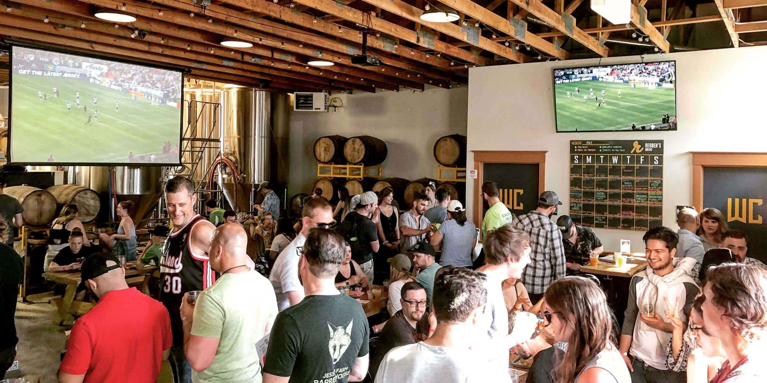 Inside the Reuben's Brews taproom at The Brewtap location in Seattle, Washington