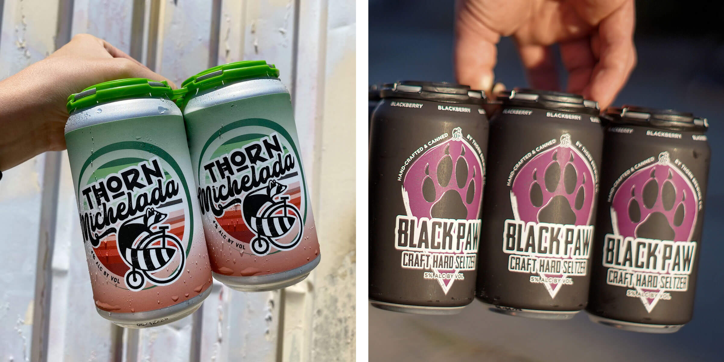 Thorn Brewing Co. is kicking off summer with the canned releases of the Thorn Michelada and the Black Paw Blackberry Hard Seltzer.