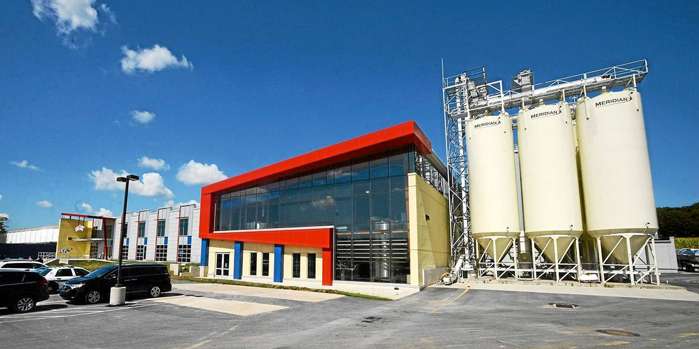 Outside the Victory Brewing Company production facility in Parkesburg, Pennsylvania