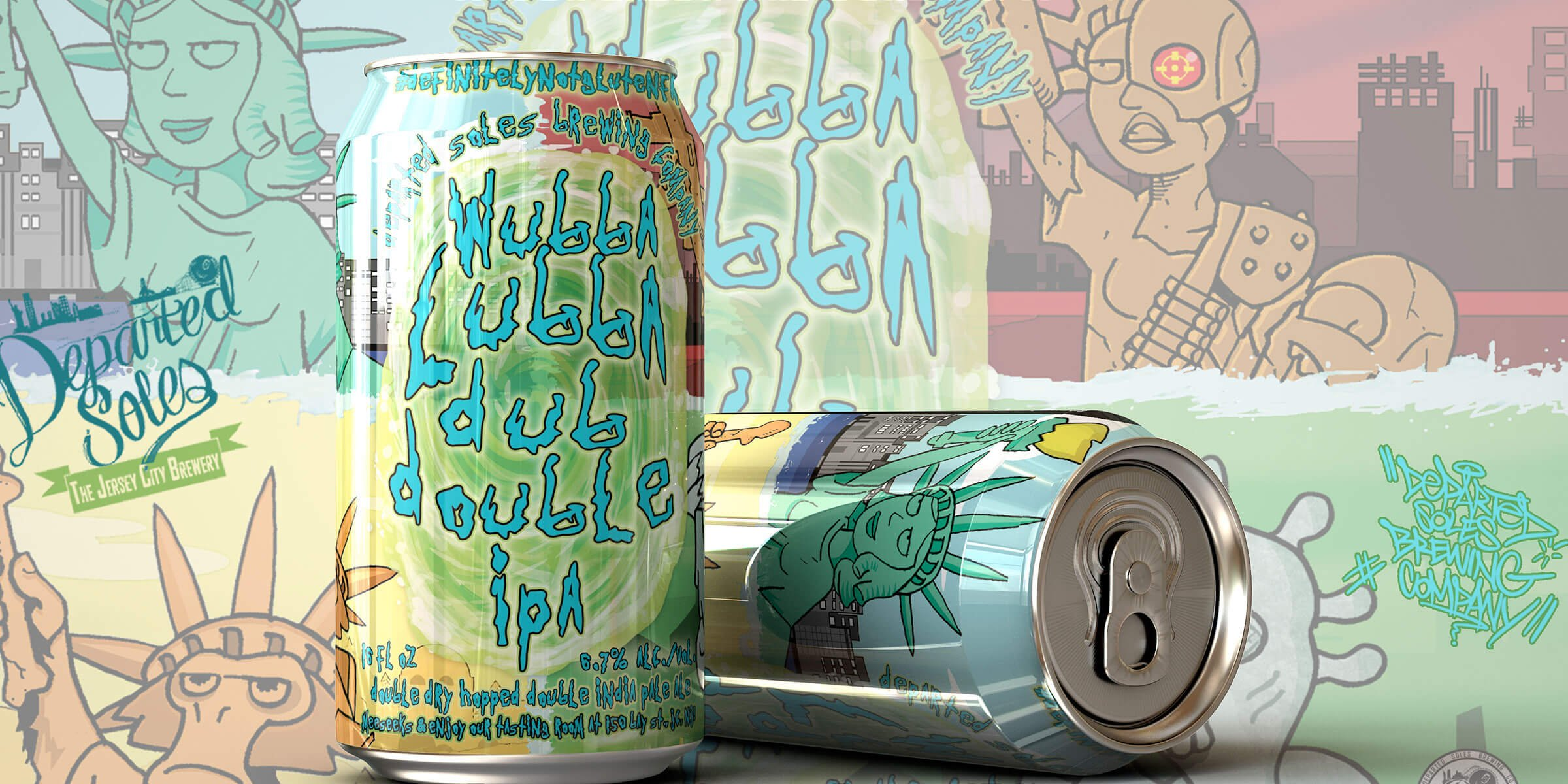 Wubba Lubba Dub Double IPA, a collaboration between Adult Swim and Departed Soles Brewing Company, will be available in 12 oz. cans on Friday, July 17th
