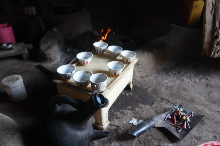 burning of incense during coffee ceremony