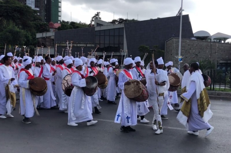 Meskel People Procession