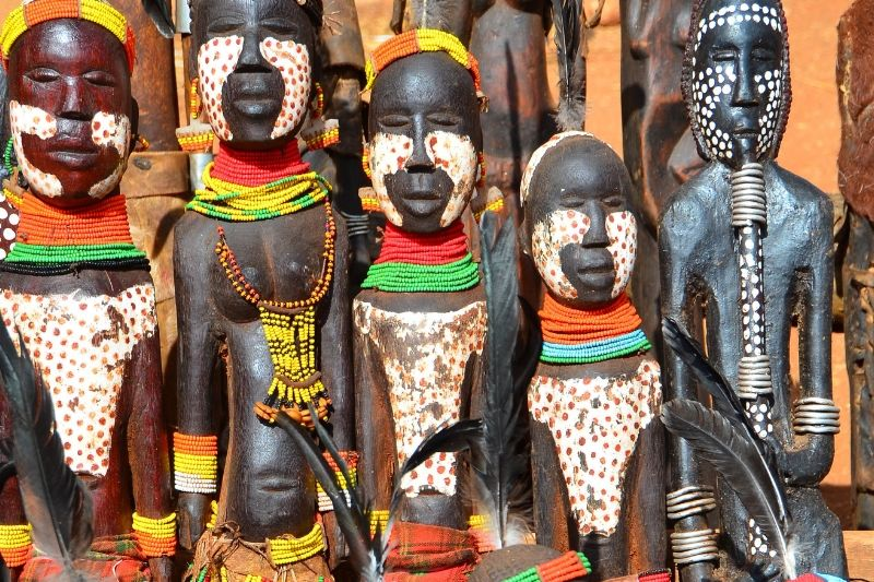 Cultural Products in an Ethiopian Market. Beginners Guide to Ethiopia. Absolute Ethiopia