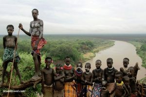 Tribes of Omo Valley near the Omo river.  Unique Ethiopia Destinations that Deserve to be on Your Bucket List. Absolute Ethiopia