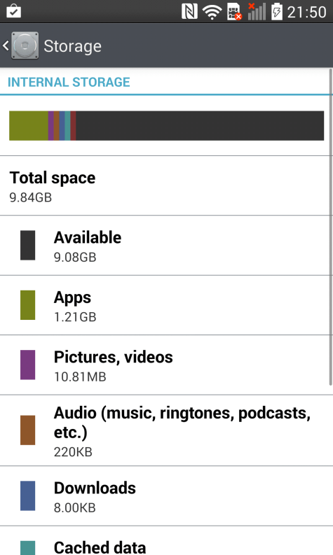 LG G Pro 2 Internal Storage
