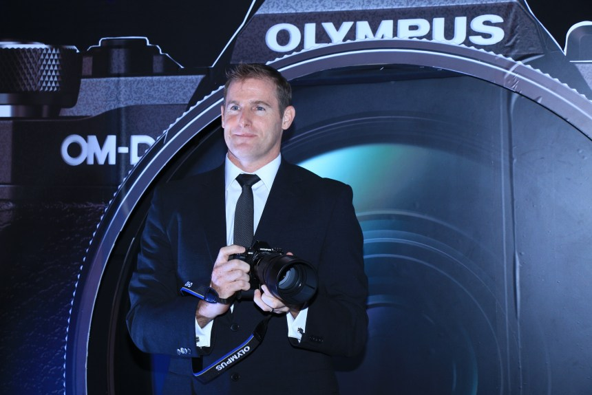 Mr. Marc Radatt, GM - Olympus Corporation Asia Pacific unveiling the Olympus E-M5 Mark II Mirrorless camera