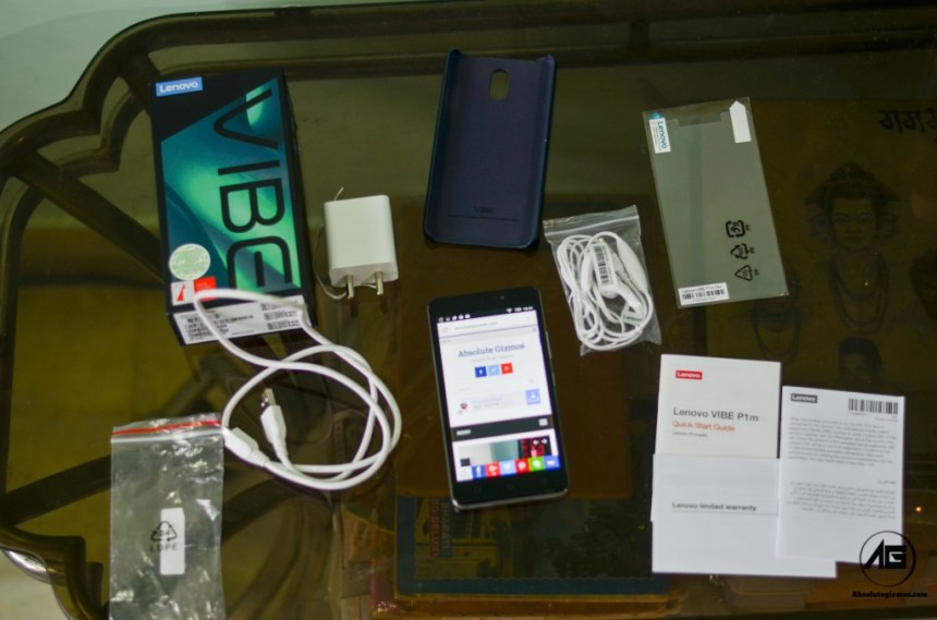 Lenovo Vibe P1m In box Content