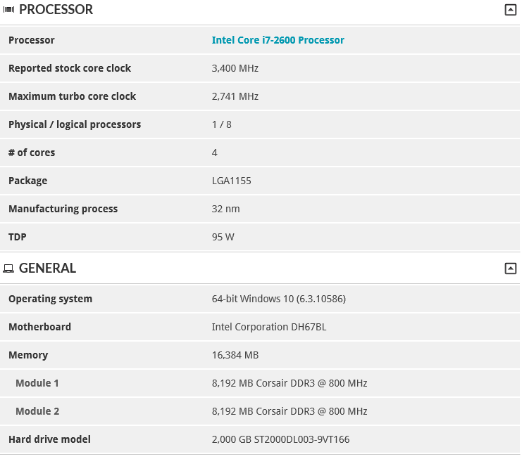 PC Test Rig Config 3D mark