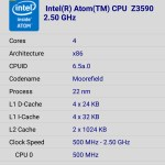 Asus Zenfone Zoom Processor SOC details CPU-Z