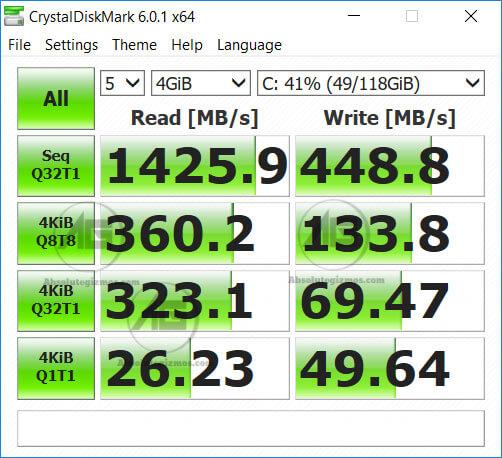 Kingston PCIe 3.0 NVMe SSD Inside Asus FX504 Benchmark