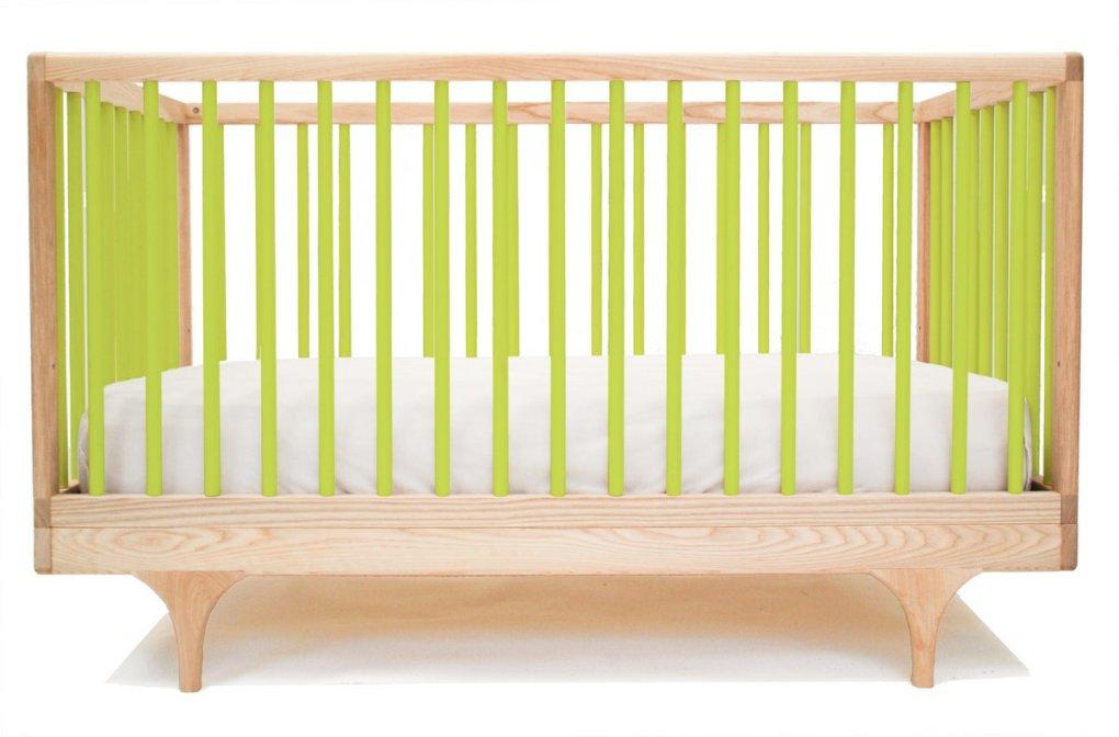 Caravan Cot & Toddler Bed in Green, £920
