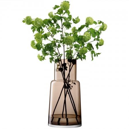 Large Chimney Vase Smokey Brown