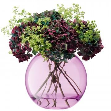 Polka Spherical Vase, Pink