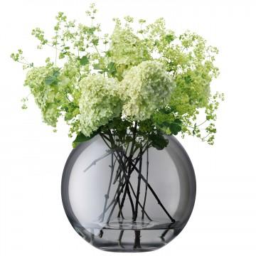 Polka Spherical Vase, Grey