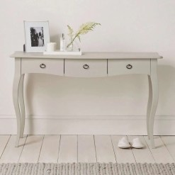 Provence Console Table, Pale Grey