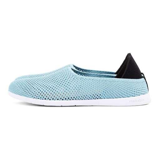 Mahabis Breath Summer Slippers, Blue & White