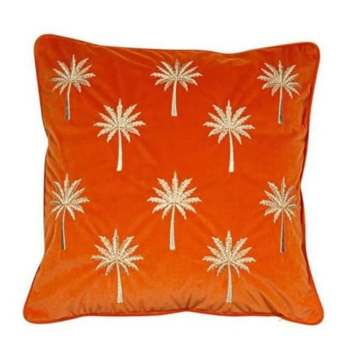 Palm Court Cushion 45 x 45cm, Rust