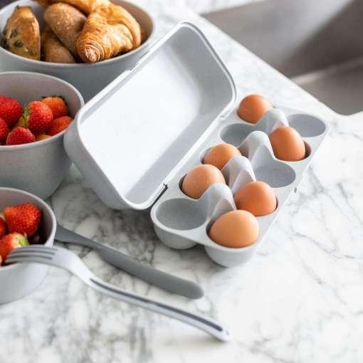 Koziol Egg To Go Egg Protected Box, Organic Grey