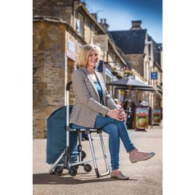 Bergman® 3-in-1 Shopping Trolley With Integrated Seat Bergman being sat on by a woman