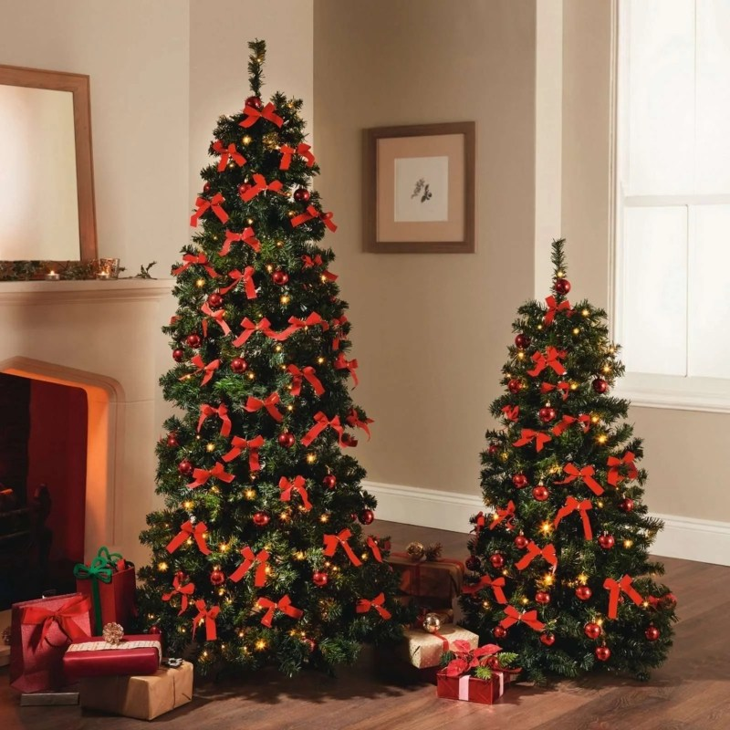 Pre-Lit Decorated Popup Christmas Tree, 4FT or 6Ft