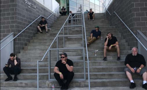 Hollywood & Highland | Production crew taking a break