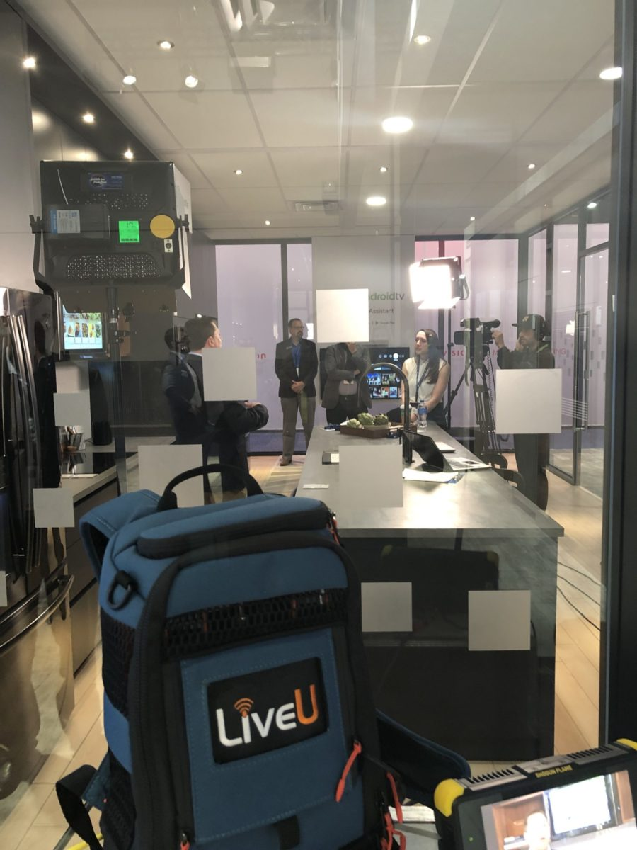 Satellite Media Tour LiveU Cellular Bonded