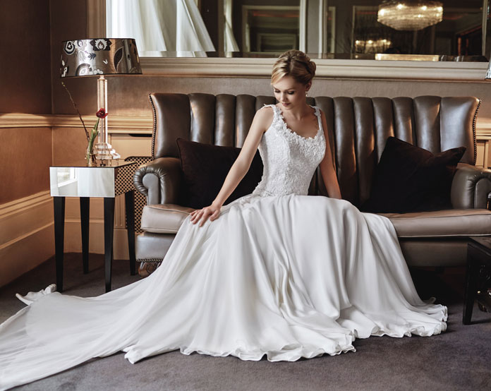 Bridal trends: textured luxe wedding gowns
