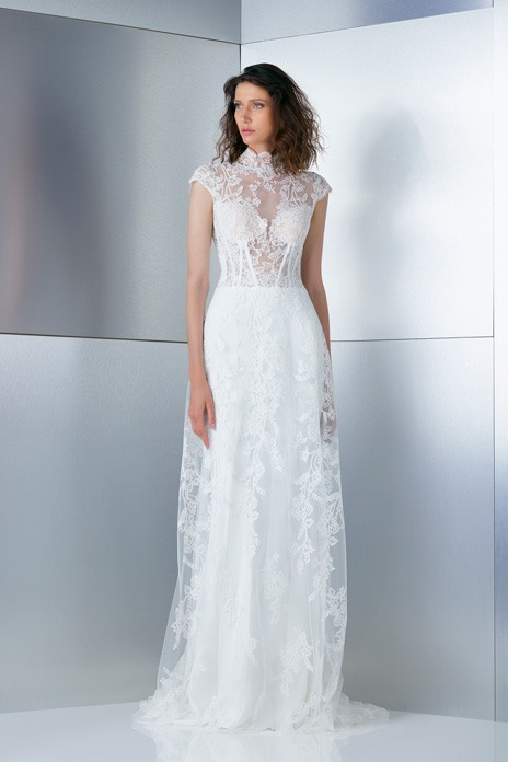Lace wedding dresses with a contemporary edge for glamorous brides