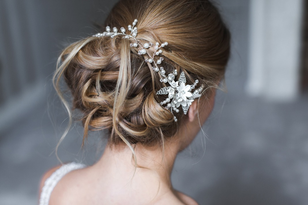 Diamonds and pearls: perfect top dressing with Team Glam bridal hair accessories