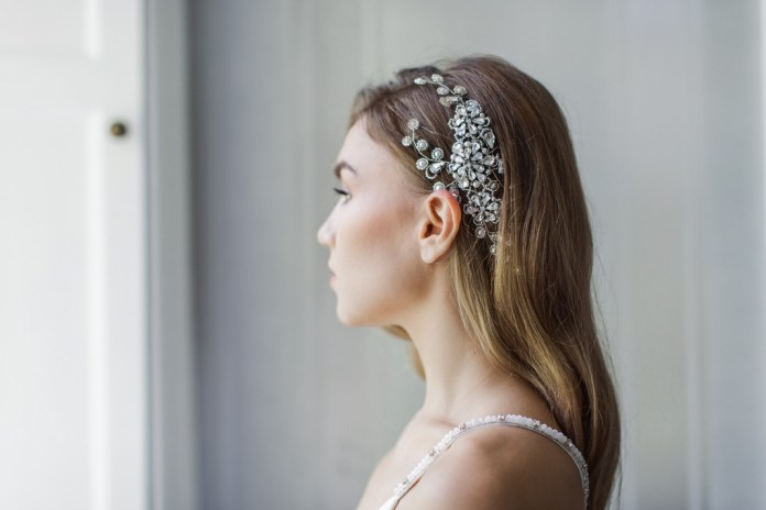 Diamonds And Pearls Top Dressing With Team Glam Bridal Hair Accessories