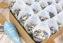 Personalise your confetti with Shropshire Petals