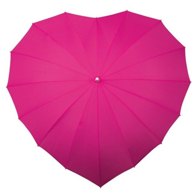 3a. Splash Love Bright Pink Heart Umbrella from The Umbrella Shop copy