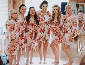 Floral bridesmaids robes picture