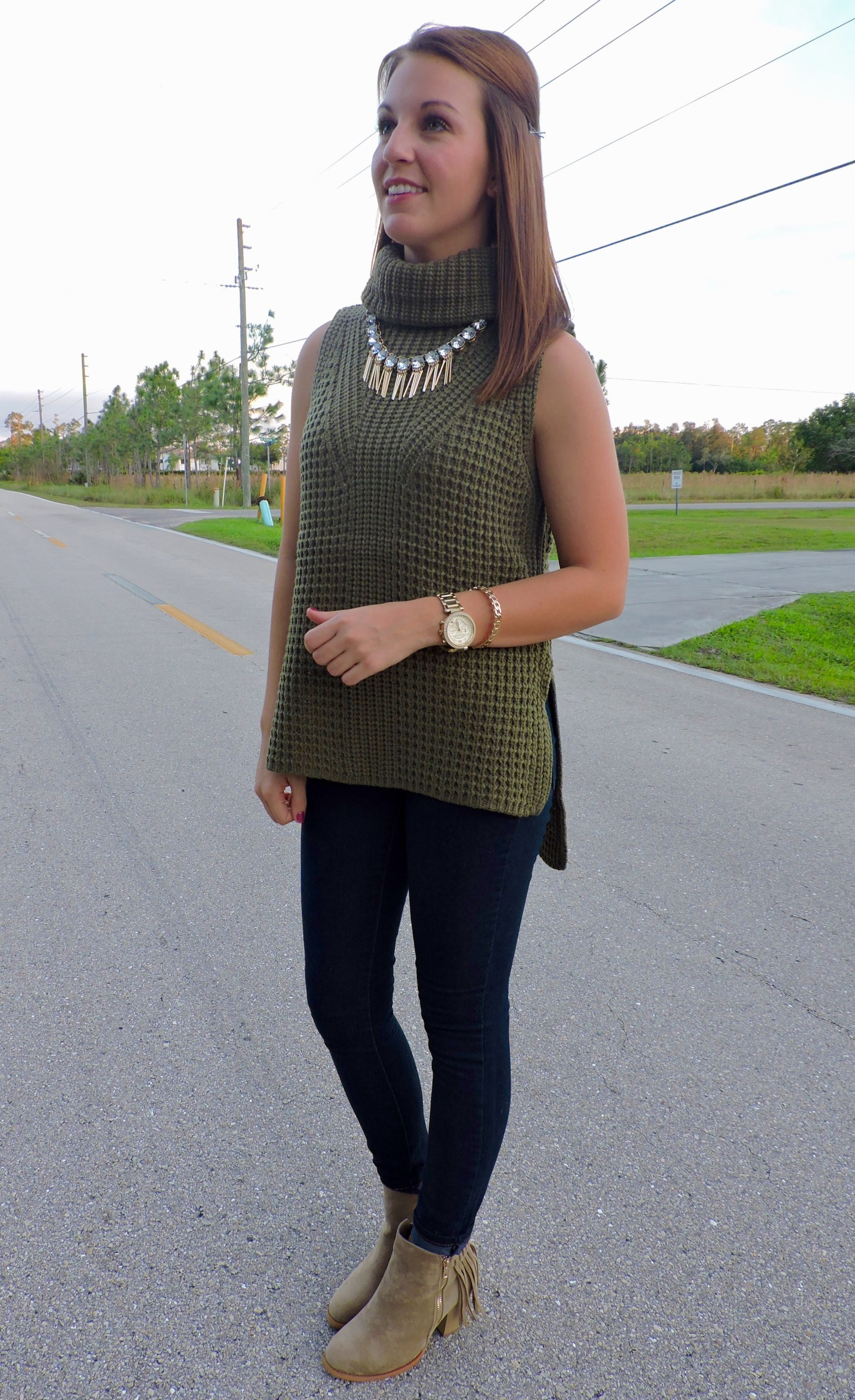 DSCN0189 - Statement Necklace With Turtleneck by Florida fashion blogger Absolutely Annie