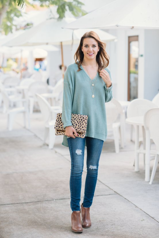 Oversized Sweater Tunic with Pink Possum Boutique by Florida fashion blogger Absolutely Annie