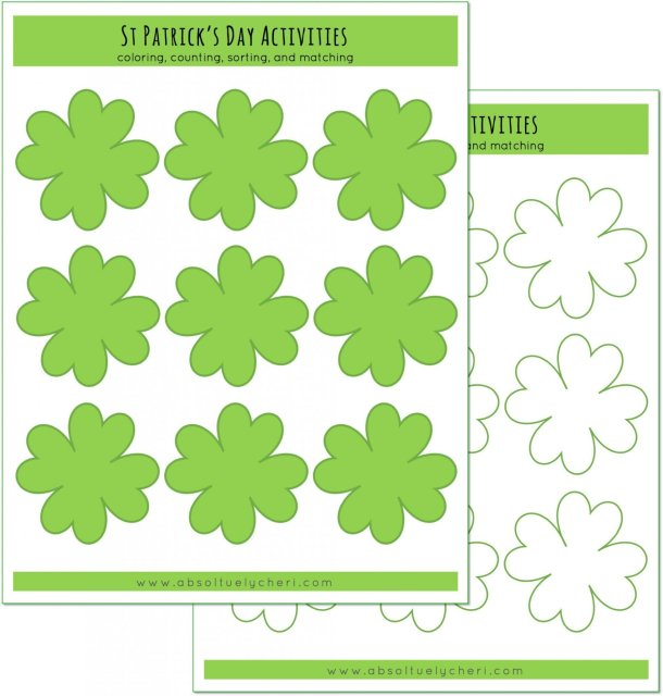 four leaf clover printable activity - Four Leaf Clover Printable