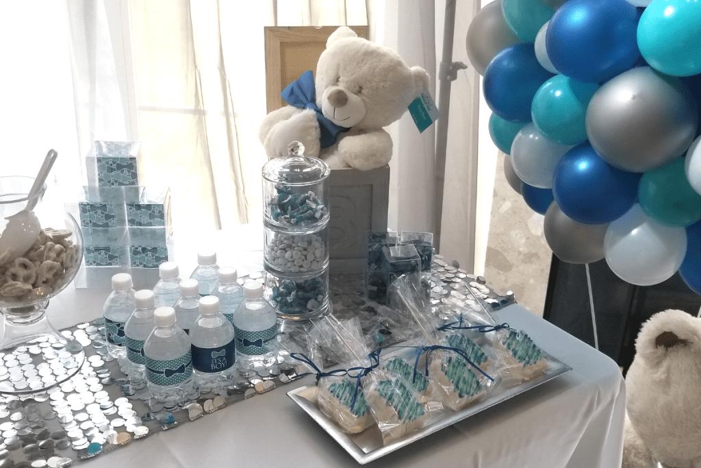 Baby Boy Baby Blue Dessert Table Set Up