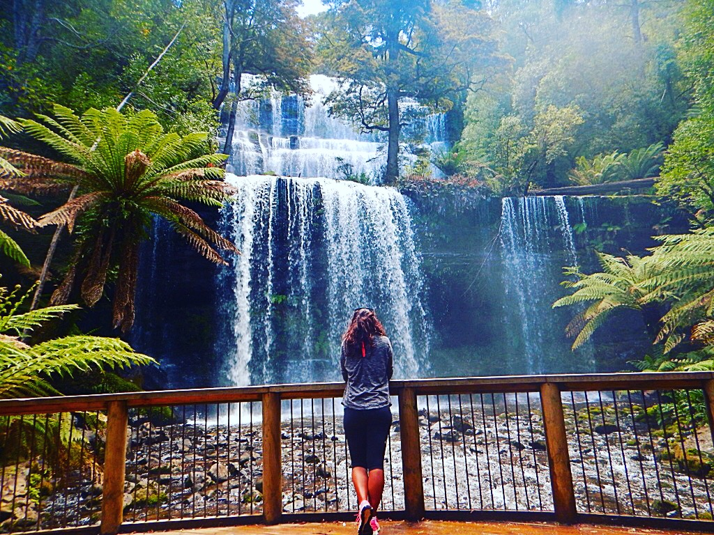 Absolutely Lucy at waterfall in Australia