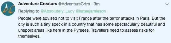 Travel risks comments Adventure
