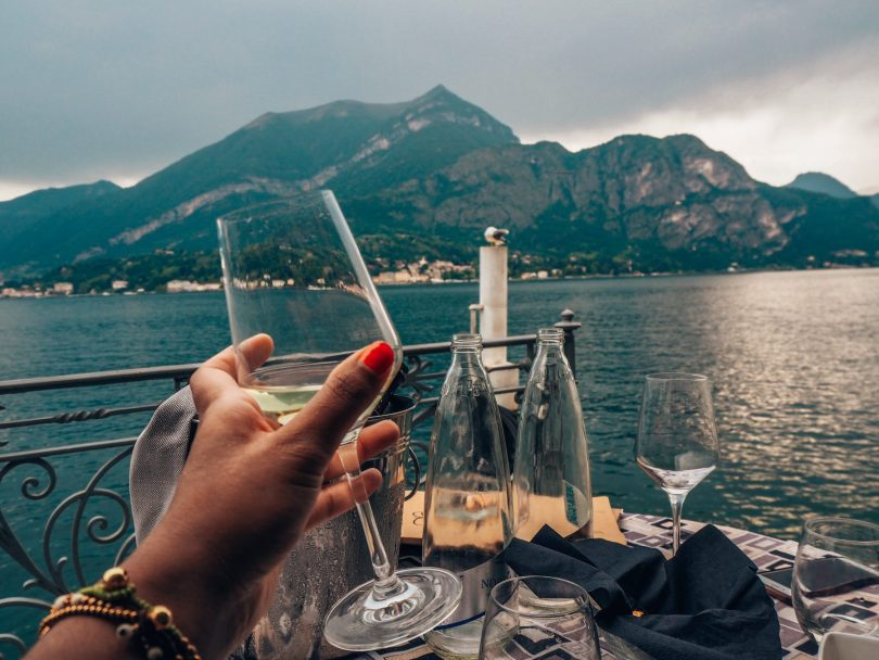Wine at Lake Como