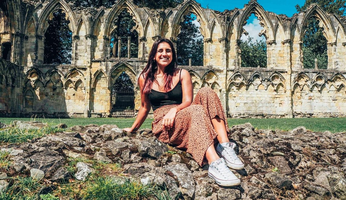 Absolutely Lucy at St Mary's Abbey during her weekend breaks in York