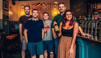 Escape room team at The Hope, Farringdon, London with Handmade Mysteries