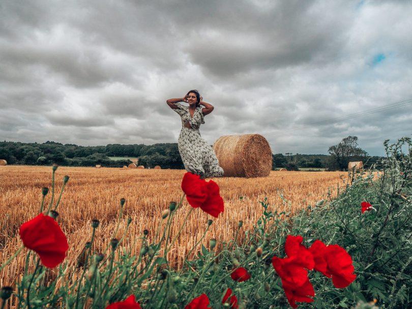 Countryside, Norfolk, hay bale