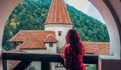 Absolutely Lucy at Bran Castle, Romania
