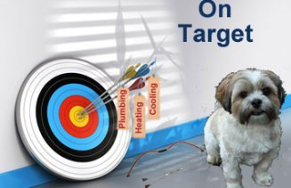 on target with plumbing, heating, and cooling