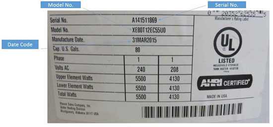 Water Heater Recall Rheem American Standard Units Pose Risk