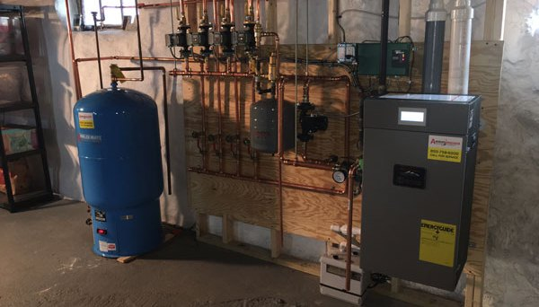 Burnham Alpine gas boiler installation in Wakefield, MA