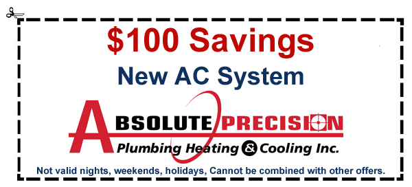 coupon: $100 savings on new AC system