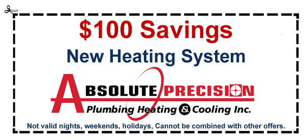 coupon: $100 savings on new heating system
