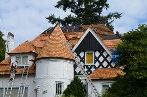 Turret Roof in progress